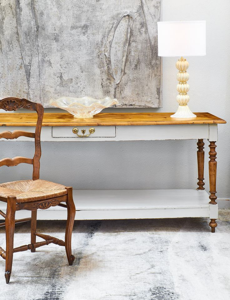 French Louis Philippe Period Turned Leg Console Table