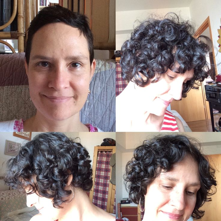 At the top left 18 of june 2016 and chemo curls, today 16 of June 2017 ( had four cuts behind too avoid the mullet  )