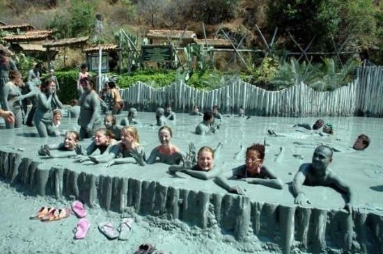 Dalyan mud baths, Turkey - the mud makes you look 10 years younger! ;)
