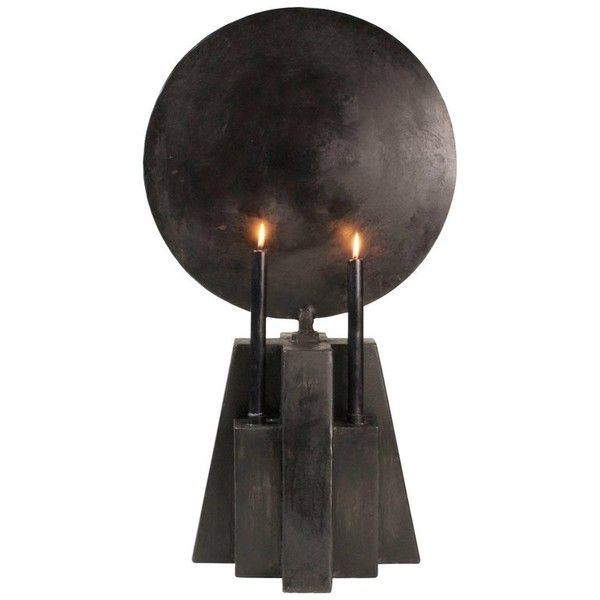 Burned Patinated Candle Holder, Arno Declercq ($8,507) ❤ liked on Polyvore featuring home, home decor, candles & candleholders, black, lighting, handmade candle holders and handmade home decor