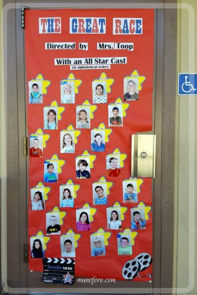 Hollywood Themed Classroom Door Decoration Classroom