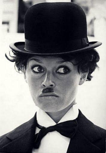 brigitte bardot as charlie chaplin...