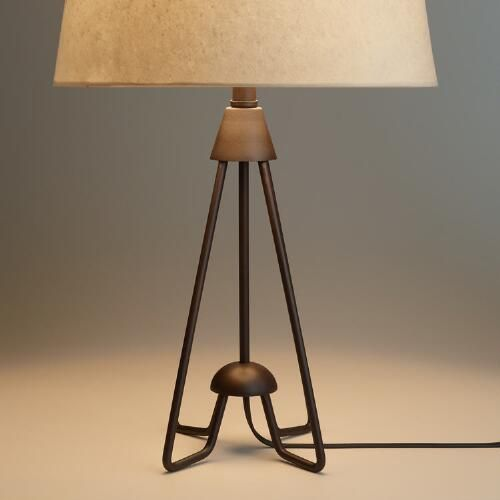 One of my favorite discoveries at WorldMarket.com: Iron Hairpin Kent Table Lamp…