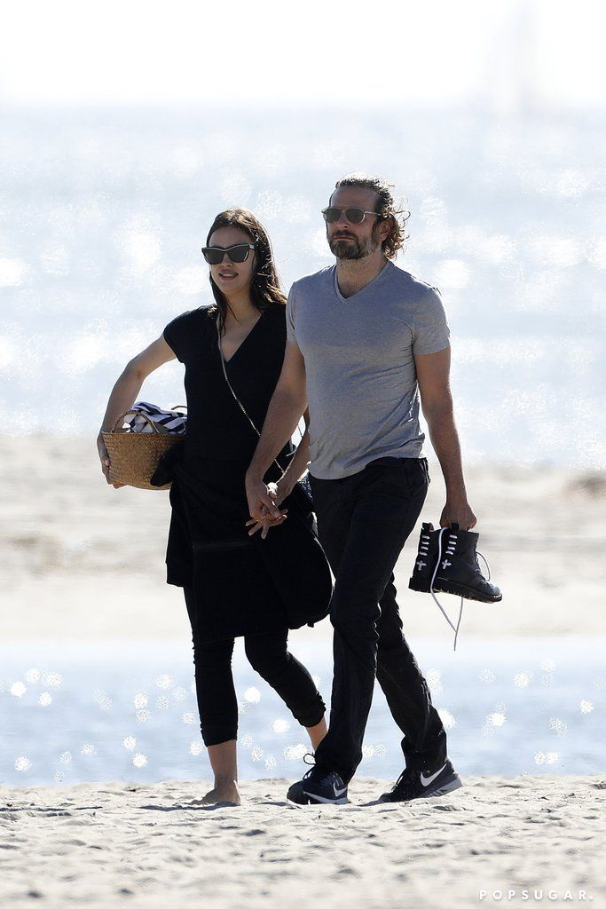 Bradley Cooper and Irina Shayk Get Extra Cuddly During Their Romantic Beach Day