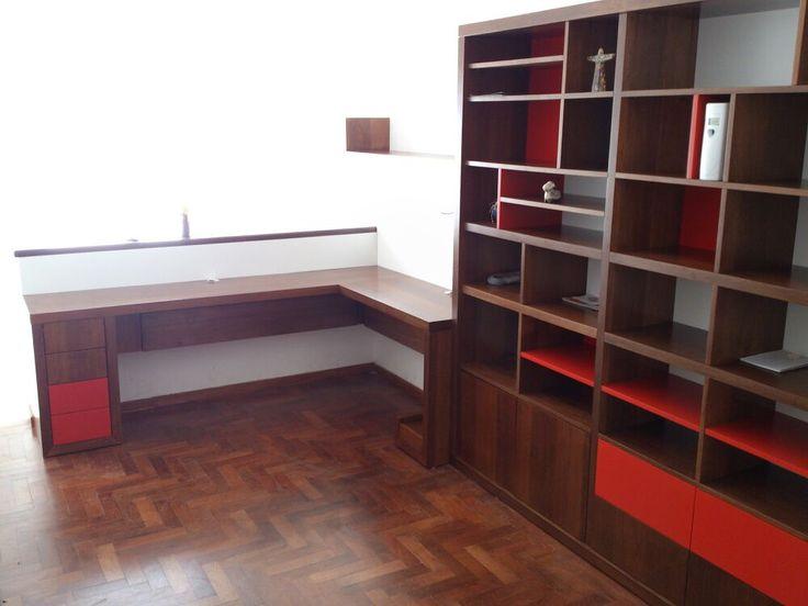 Muebles a medida. Escritorio biblioteca