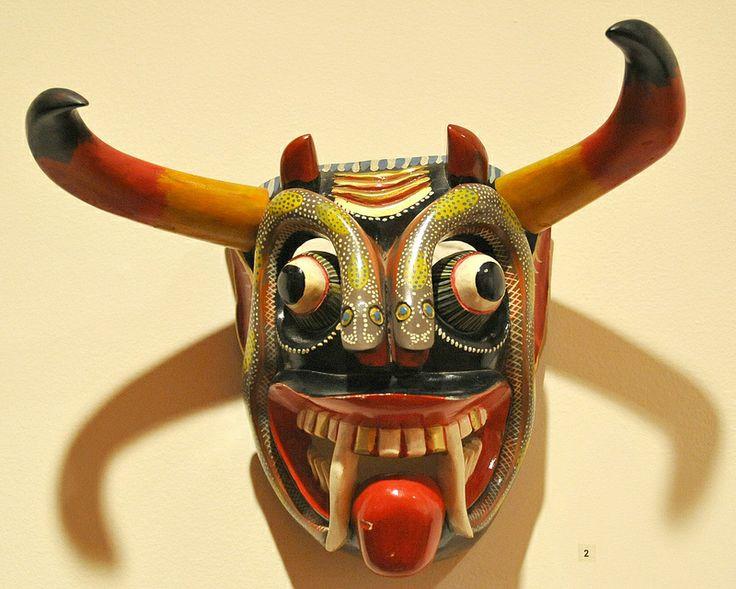 Devil Mask Mexico Michoacan