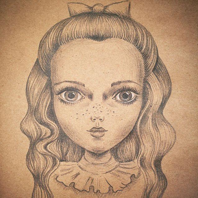 #Art #Popsurrealism: pencil #drawing by Daria Khanolainen