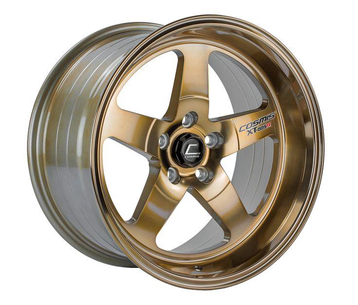 Cosmis racing xt005r hyper bronze wheel 18x9 rim size