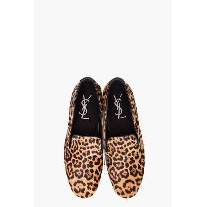 Men YSL sheeta print shoes