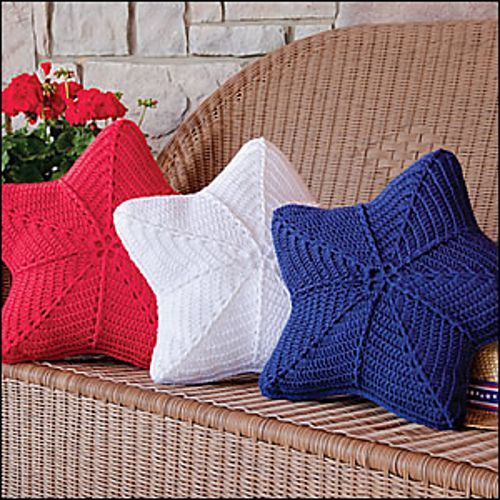 Star pillows pattern - CROCHET (I don't crochet, but these would be adorable as patchwork quilt pillows!)