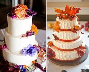 Decoración boda en otoño #boda #tartas