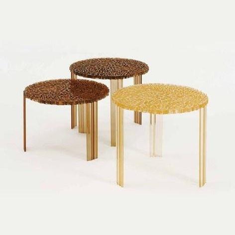 £126 Kartell T-table, high, amber