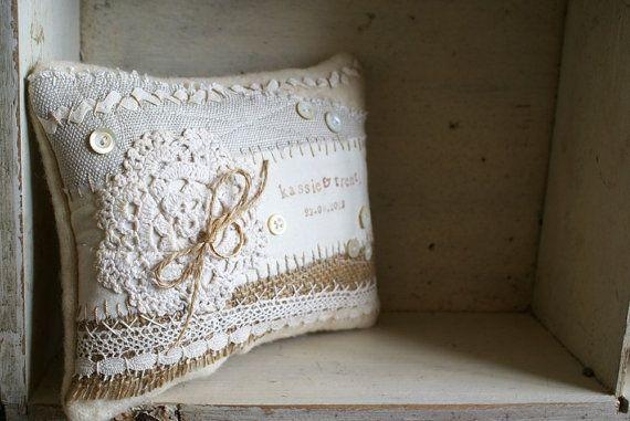vintage pillow ideas | Custom Vintage Pillow by HomespunIreland, nice idea