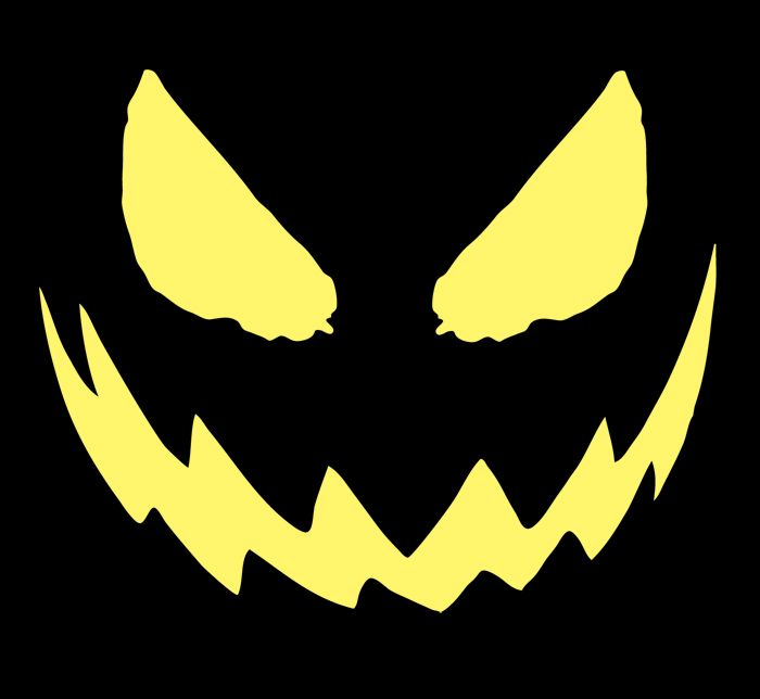 Scary printable pumpkin carving patterns erwinnavyanto for Evil pumpkin face template
