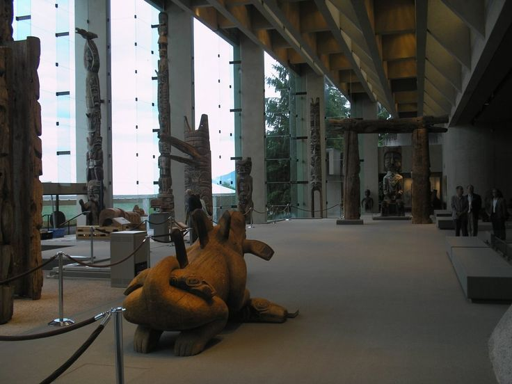 Interior of the Museum of Anthropology, UBC