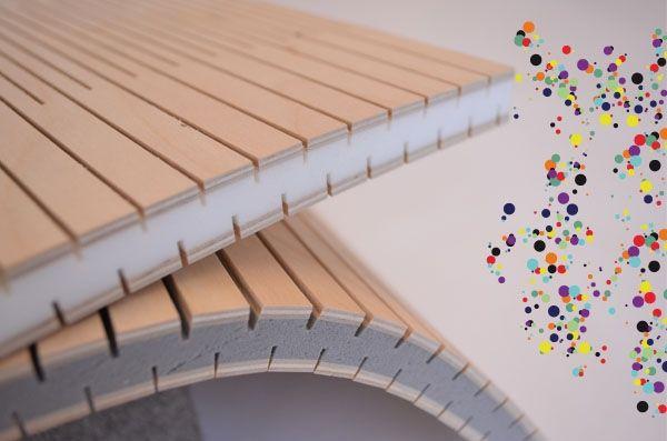 A flexible wood panel