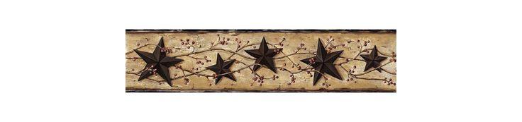 Brewster FFR65362B Black Heritage Tin Star Border Wallpaper Black Tin Star Home Decor Wallpaper Borders