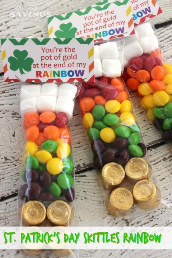 St. Patrick's Day Skittles Rainbow In A Bag