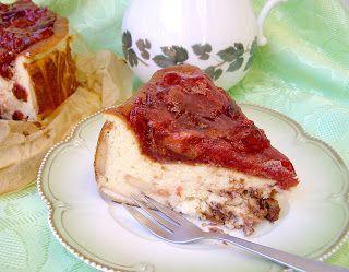 W Mojej Kuchni Lubię.. : pieczony sernik jogurtowy z czekoladą i musem śliw...