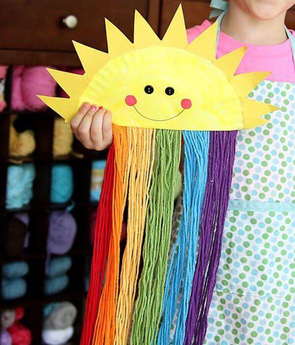 10 Manualidades fáciles con platos desechables - Trite Tutorial and Ideas Diy Crafts Videos, Diy Crafts For Kids, Easy Crafts, Diy Y Manualidades, Rainbow Paper, Recycling, Origami Animals, Japan Art, Elementary Art