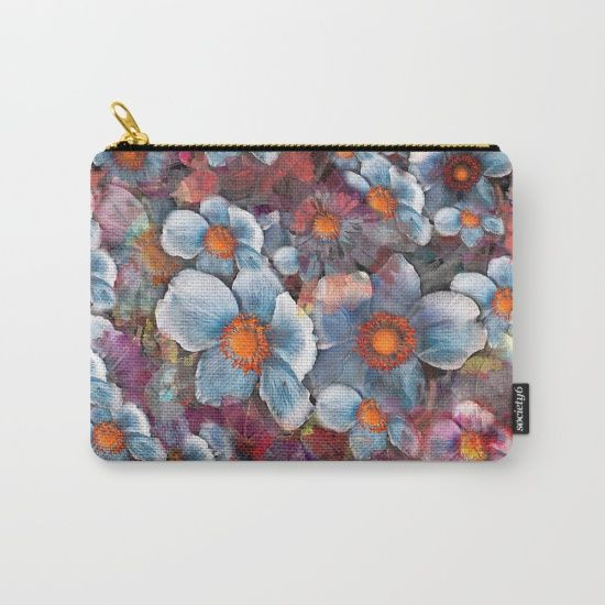 Flower carpet(53). Carry-All Pouch by Mary Berg. Worldwide shipping available at Society6.com. Just one of millions of high quality products available.