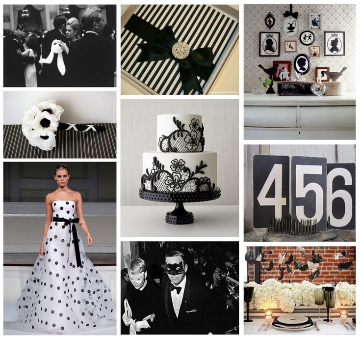 black and white party inspiration...like the numbers
