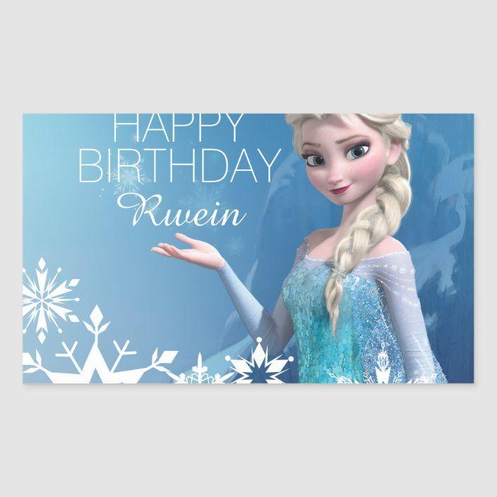 Frozen Elsa Birthday Classic Round Sticker Zazzle Com In 2020 Elsa Birthday Birthday Dog Pattern