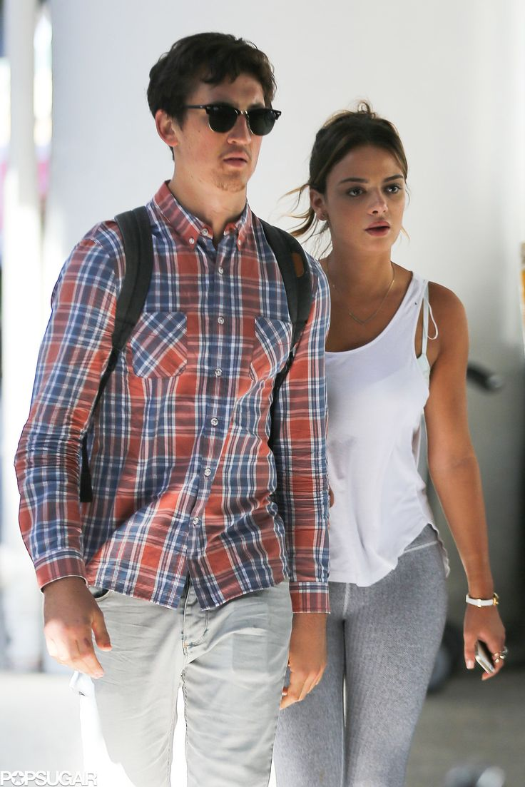 Miles Teller popped up at LAX with his girlfriend Keleigh Sperry on Thursday.