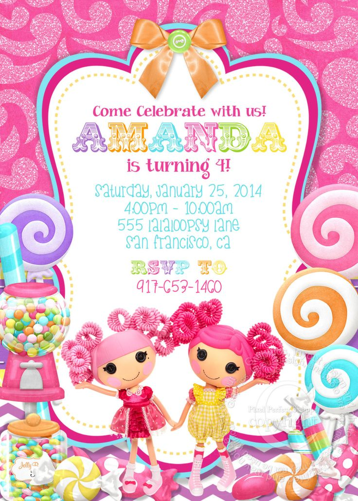 Lalaloopsy Invitation Lalaloopsy Birthday by PixelPerfectShoppe, $7.00