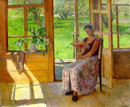 At the Veranda 2002 by Nikolia Dubovik (1960 - Present