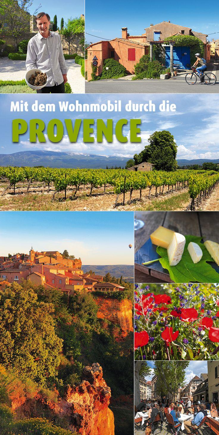 Im #Vaucluse zeigt sich die Provence den Reisemobilisten von seiner schönsten Seite. Dort erwarten mobile Gäste sowohl sportliche Betätigung als auch bewusster Müßiggang. #Wohnmobil #Frankreich