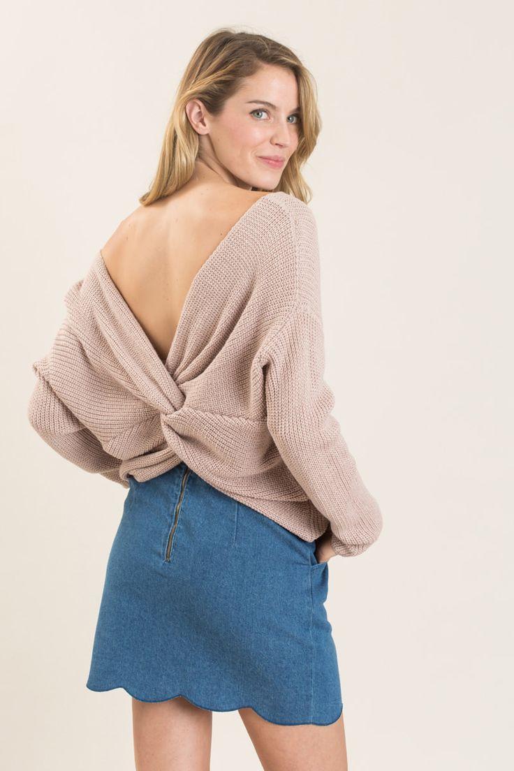 Carly Blush Twisty Sweater