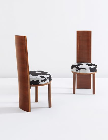 PHILLIPS : NY050313, Gino Levi Montalcini, Pair Of Highback Chairs From The  VI Triennale
