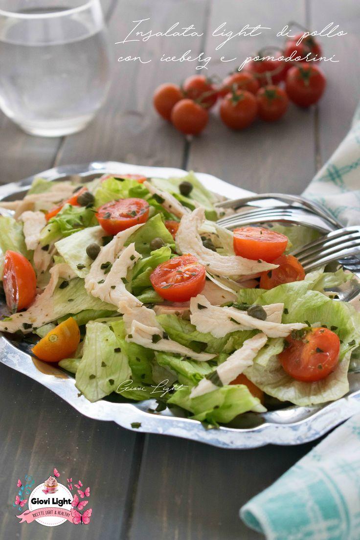 INSALATA LIGHT DI POLLO CON ICEBERG E POMODORINI!  Un'insalata di pollo leggerissima e super saziante, appagante e ricca di sapore!   Così ricca nella sua semplicità che piace a tutti!  http://blog.giallozafferano.it/ricettesuperlightdigiovi/insalata-light-pollo-iceberg-pomodorini/