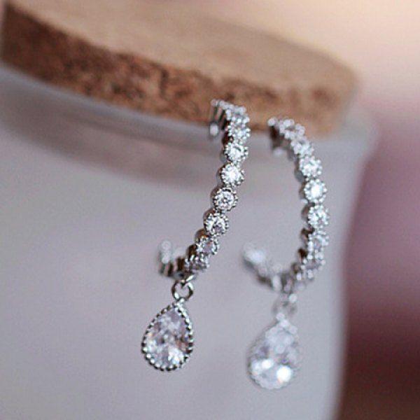 Cute Women's Rhinestone Drop Pendant Earrings