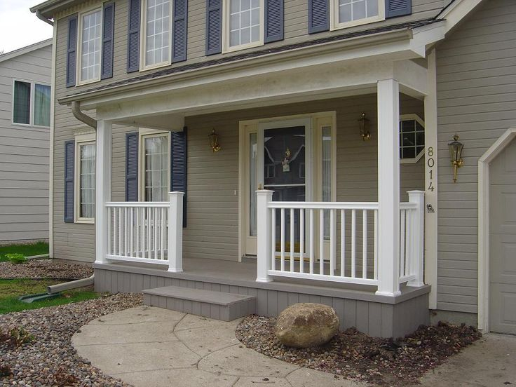 front porch railings new front porch in des moines nw urbandale suburb front porches - Porch Railing