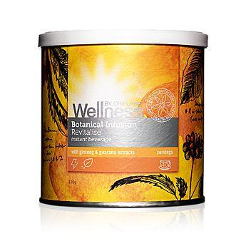 Lahodný, zdravý a 100% přírodní instantní horký nápoj ze směsi bylinných extraktů, koření a pre-biotické vlákniny s obsahem antioxidantů. Ve dvou příchutích s dvěma odlišnými efekty. Obsahuje 40 snadno připravitelných porcí. 120  g Kód:24695