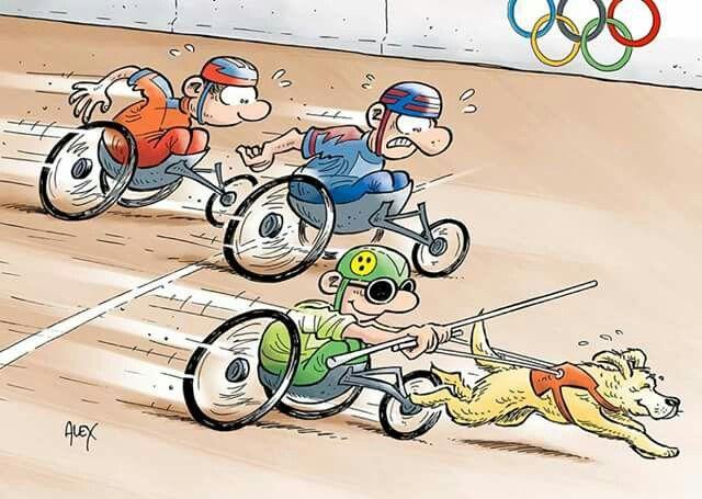 Alex (2016-09-13) JO PARALYMPIQUE: Les Jeux paralympiques battent leur plein (dessin tiré du calendrier 2016 de La Liberté) www.laliberte.ch