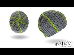 Mütze häkeln bosnisch - Snake Beanie - Kettmaschen häkeln - YouTube
