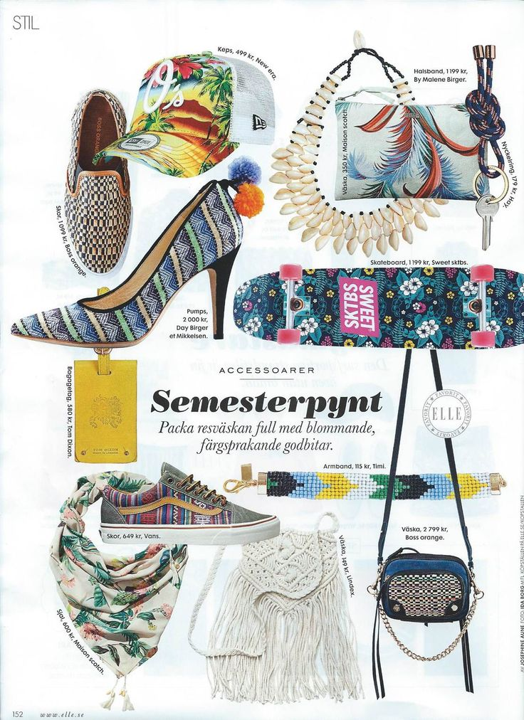Inspiration board from Elle magazine  #Elle #Vacation #Inspiration #Timi #Timiaccessories #Fashion