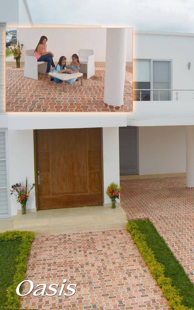 Enchape Oasis 14 x 7 cm Ladrillera Casablanca Si lo puedes imaginar te lo podemos crear.  Naturaleza en tu espacio! www.ladrilleracasablanca.com