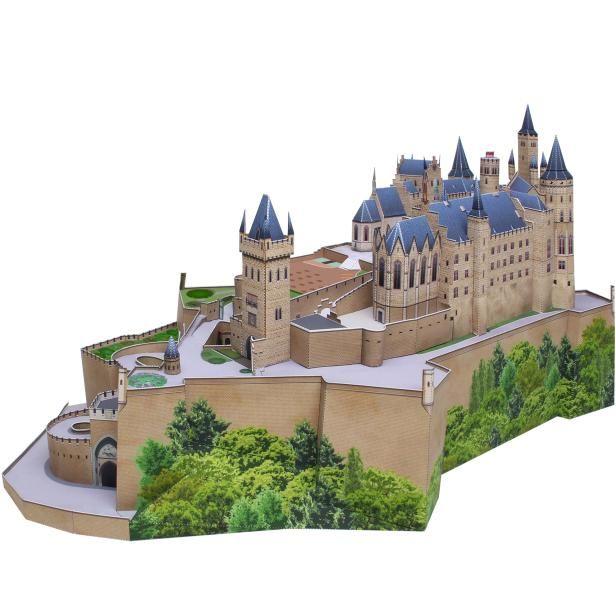 Burg Hohenzollern Deutschland Architektur Papiermodelle Papiermodelle Deutschland Burg Gebaeude M Papiermodell Bastelarbeiten Aus Papier Und Pappe Architektur