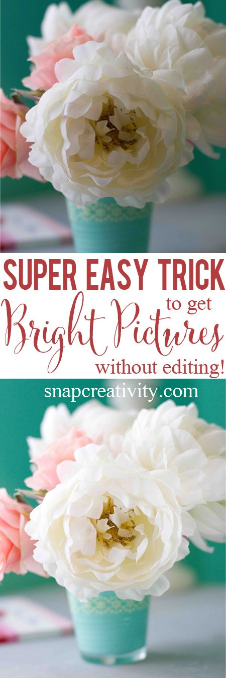 Make a Light Reflector- A Quick, Free Trick To Brighter Photos! - This is such a great tip for better photos! I can't believe it's basically free to make!