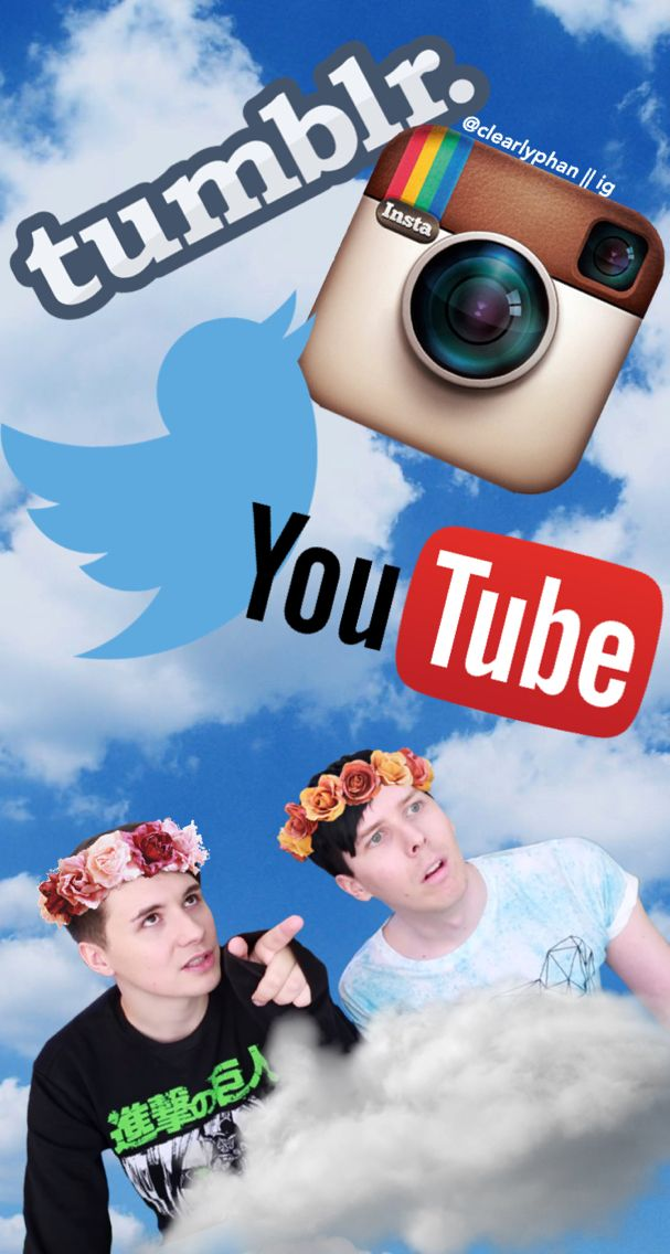 Dan and Phil wallpaper/edit idk what it is really but I used it as a wallpaper