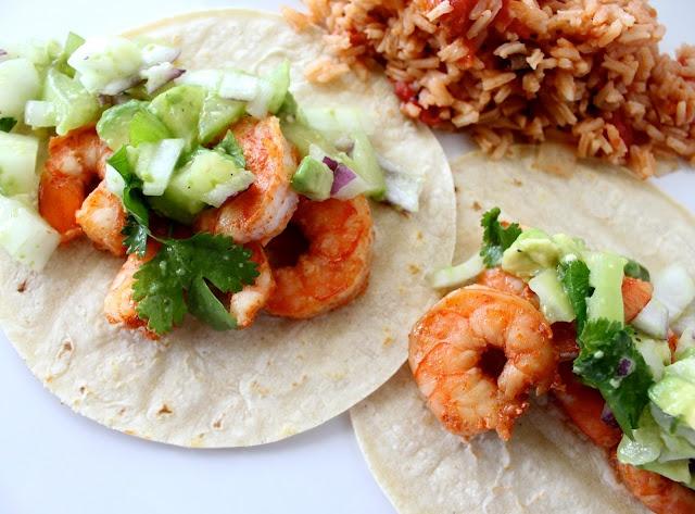 Chipotle Shrimp Tacos with Avocado Salsa Verde: Mr. Tacos, Avocado Salsa, Chipotle Shrimp, Mexicans Food, Salsa Verde, Avocado Shrimp Tacos, Bounty Kitchens, Avo Recipe, Grilled Shrimp