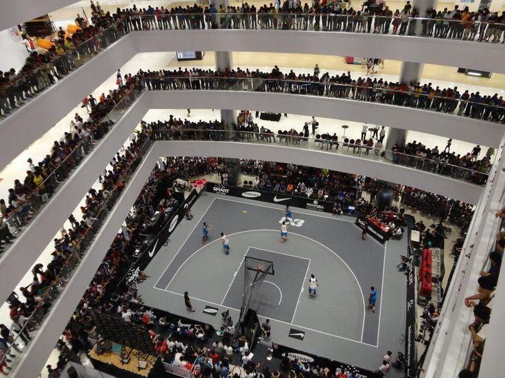 Fiba 3x3 World Tour Underway On Sport Court Basketball Courts Home Basketball Court Sports Court Flooring Stadium Architecture