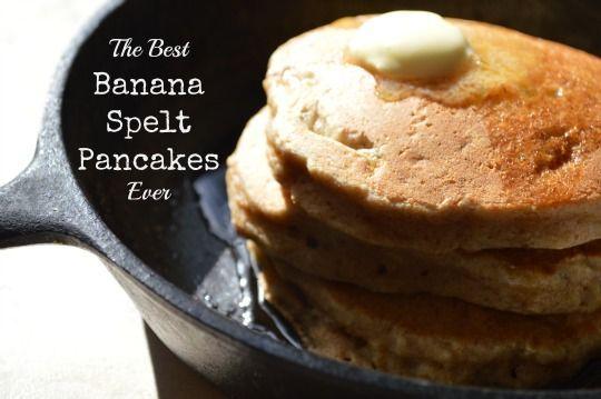 the best banana spelt pancakes ever