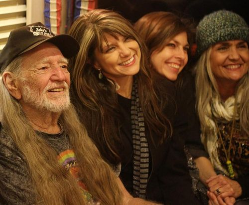 Photo of Willie Nelson & his  Daughter  Lana Nelson