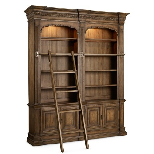 Superior Shop For The Hooker Furniture Rhapsody Double Bookcase With Ladder And Rail  At Olindeu0027s Furniture   Your Baton Rouge And Lafayette, Louisiana Furniture  ...