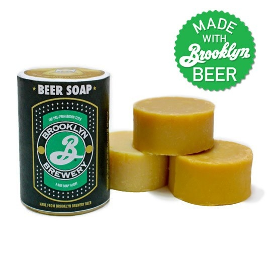 Beer soap made with Brooklyn beers.